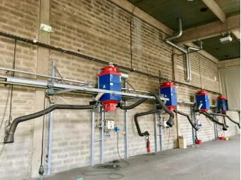 Unités stationnaires et centrales d'aspiration et de filtration de fumée de soudage.