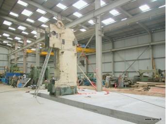 Réparation d'une presse-plieuse 6000 x 1000 tonnes