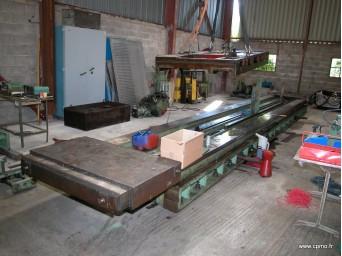 Rectification d'un banc d'aléseuse CN course 6000 mm